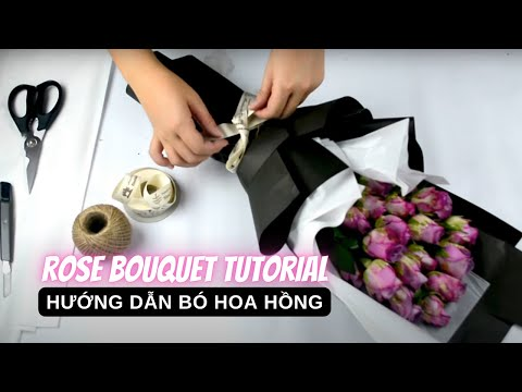 How To Wrap A Rose Bouquet