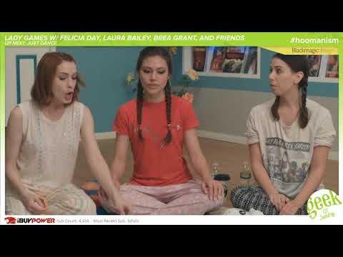 Lady Games  Slumber Party Shenanigans at Geek & Sundry ft. Felicia Day & Laura Bailey