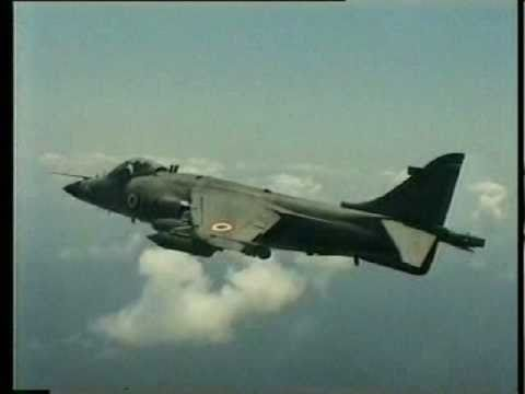 Indian Navy Sea Harriers in action