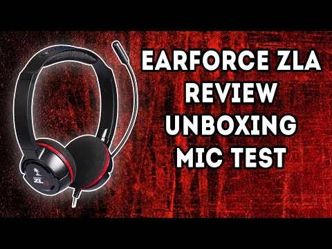 Turtle Beach ZLA PC Headset - Review :  Unboxing : Mic Test : PC : PS4 : XBOX