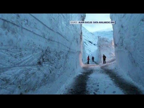 En Savoie, un village tente de retrouver sa route sous 7 mètres de neige