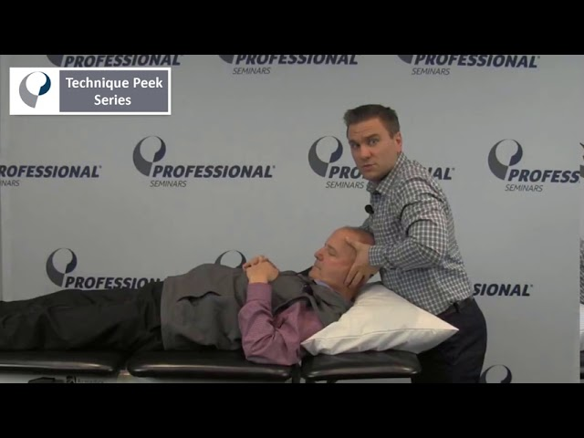 Technique Peek Series - How to Access and Treat Upper Cervical Rotation