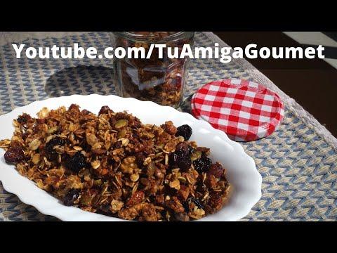 Cómo hacer Granola Casera, Receta libre de Gluten y de Lácteos