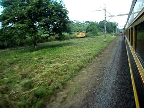 Panama-Colon train near Gamboa, PCRC freight standing down on siding, June 14, 2010.AVI