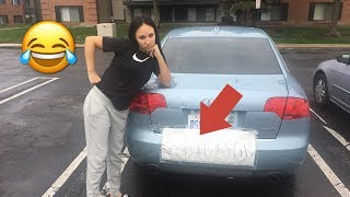 BEEP AT THIS CAR PRANK ON GIRLFRIEND (SHE FLIPPS OUT )