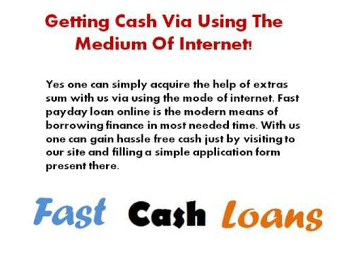 Fast Cash Loan Online Perfect Lending Option For Everyone