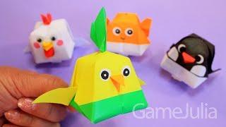 Пухлые животные из бумаги - Попугай