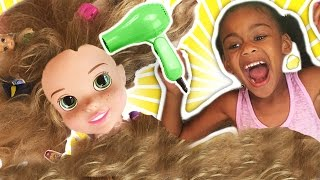 Rapunzel Hair Disaster Tangled w/ Maleficent Real Life Disney Princess