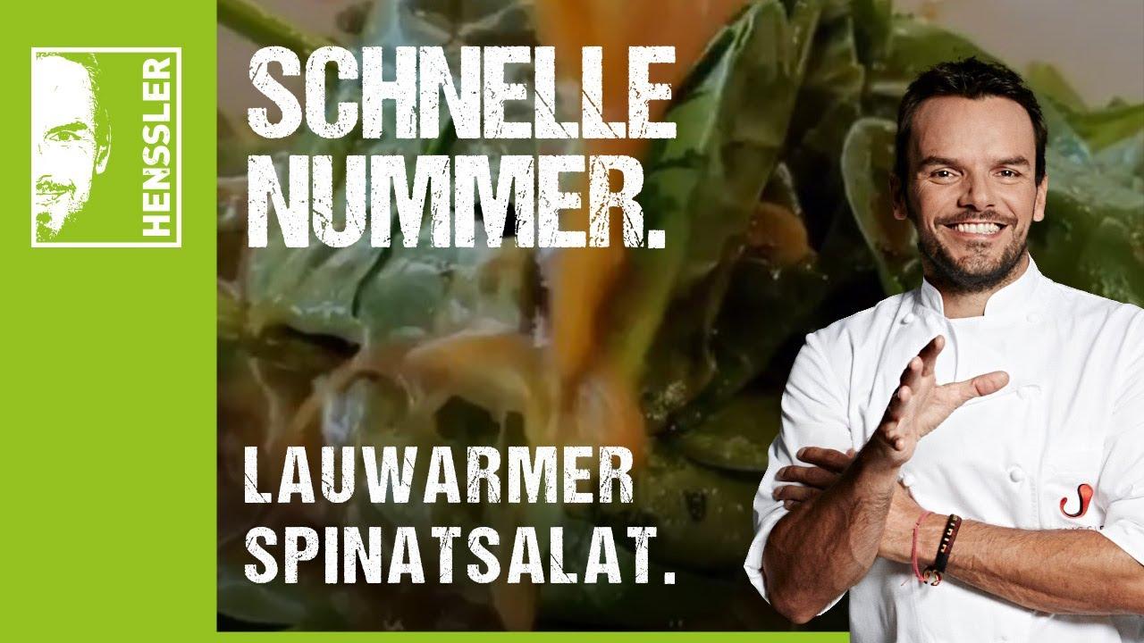Schnelles Salat-Rezept mit Spinat lauwarm von Steffen Henssler