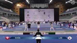 hktlc的亞洲青少年劍擊錦標賽 佩劍隊制賽 比賽片段相片