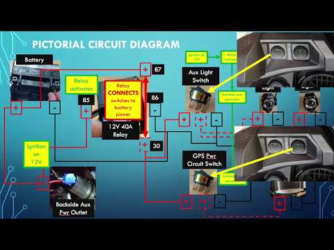 P-1/3: 2018 HONDA AFRICA TWIN ADVENTURE SPORTS DCT CRF1000L2 Auxiliary Lights & GPS Wiring w/ RELAY