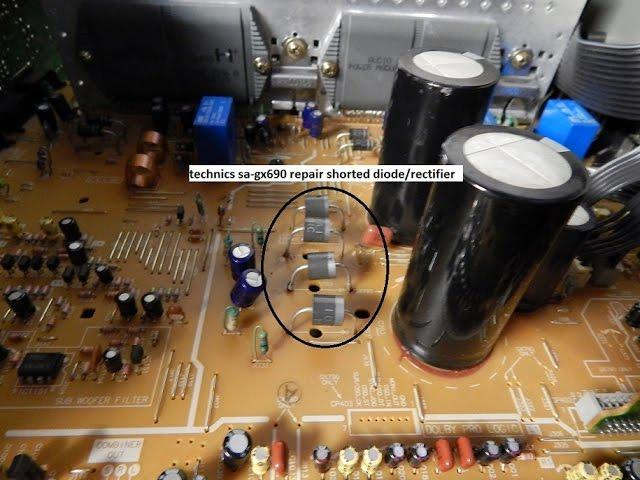 technics sa-gx690 repair bad diode/rectifier #1