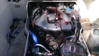 moteur audi 2.5 v6 tdi 1er essai dans le bateau