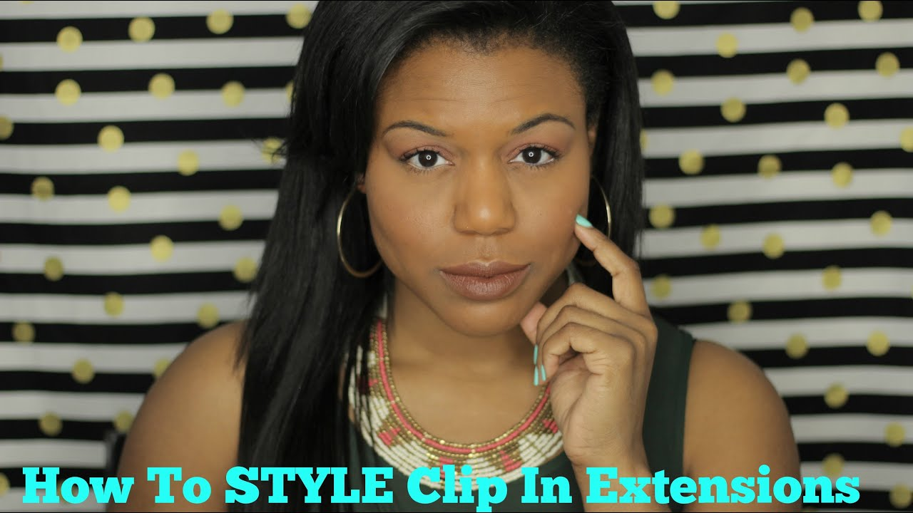 How To Clip In Hair Extensions For African American Hair Youtube