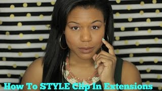 How to clip In hair extensions for African American Hair