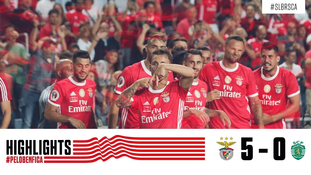 Highlights Sl Benfica 5 0 Sporting Cp Youtube