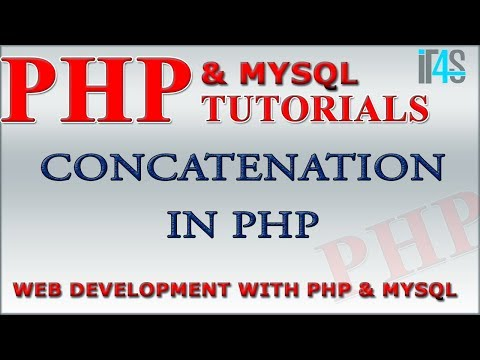 PHP Tutorial | Concatenation Of Strings In PHP