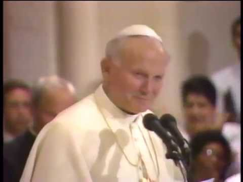 Pope John Paul II in Miami - Cathedral of St. Mary, Part 1
