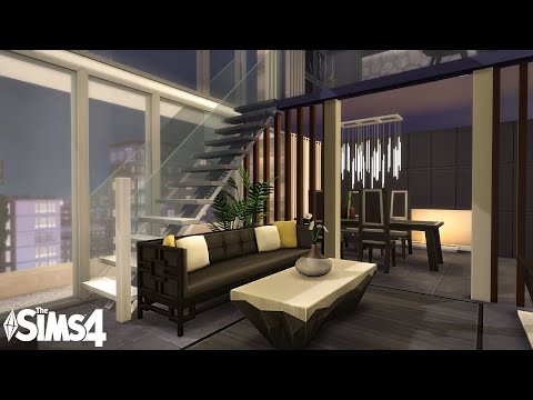 Luxury Penthouse | Stop Motion Speed build | The Sims 4 | NO CC