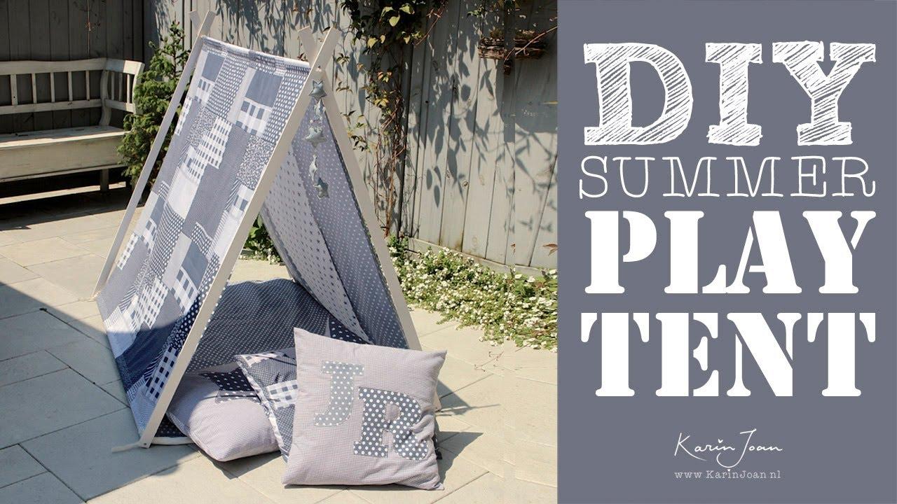 DIY Summer play tent by Karin Joan & DIY Summer play tent by Karin Joan - YouTube