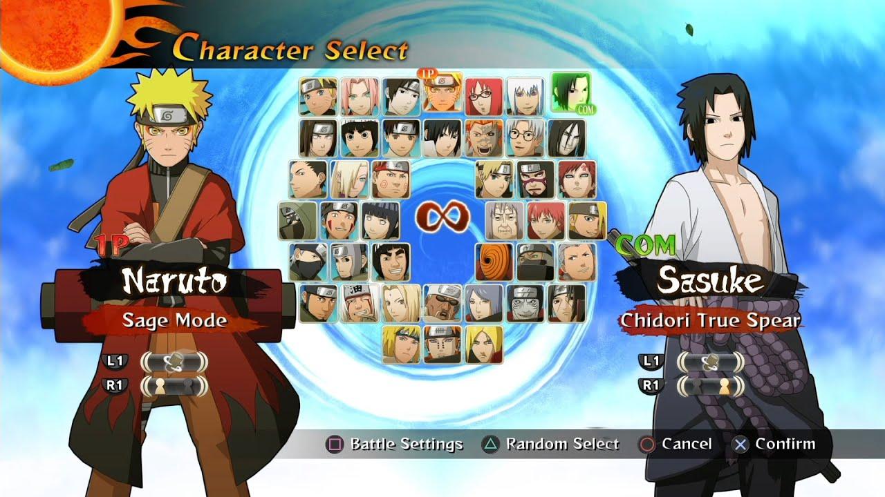 Naruto Shippuden: Ultimate Ninja Storm 2 All Characters [PS4] - YouTube