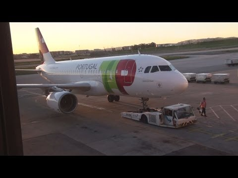 Lisbon Airport handling TAP Portugal A319 takeoff & landing at Madeira Airport