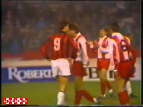 Crvena zvezda - Milan. EC-1988/89 (1-1, pen)