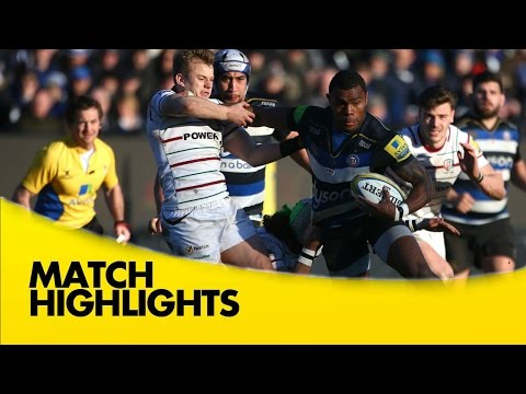 Bath Vs London Irish - Aviva Premiership 2015/16