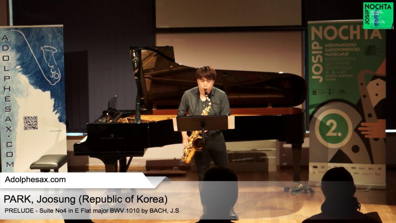 Johann Sebastian Bach – Suite No 4 in E  at major BWV 1010 – Pre?lude – PARK, Joosung (Korea)
