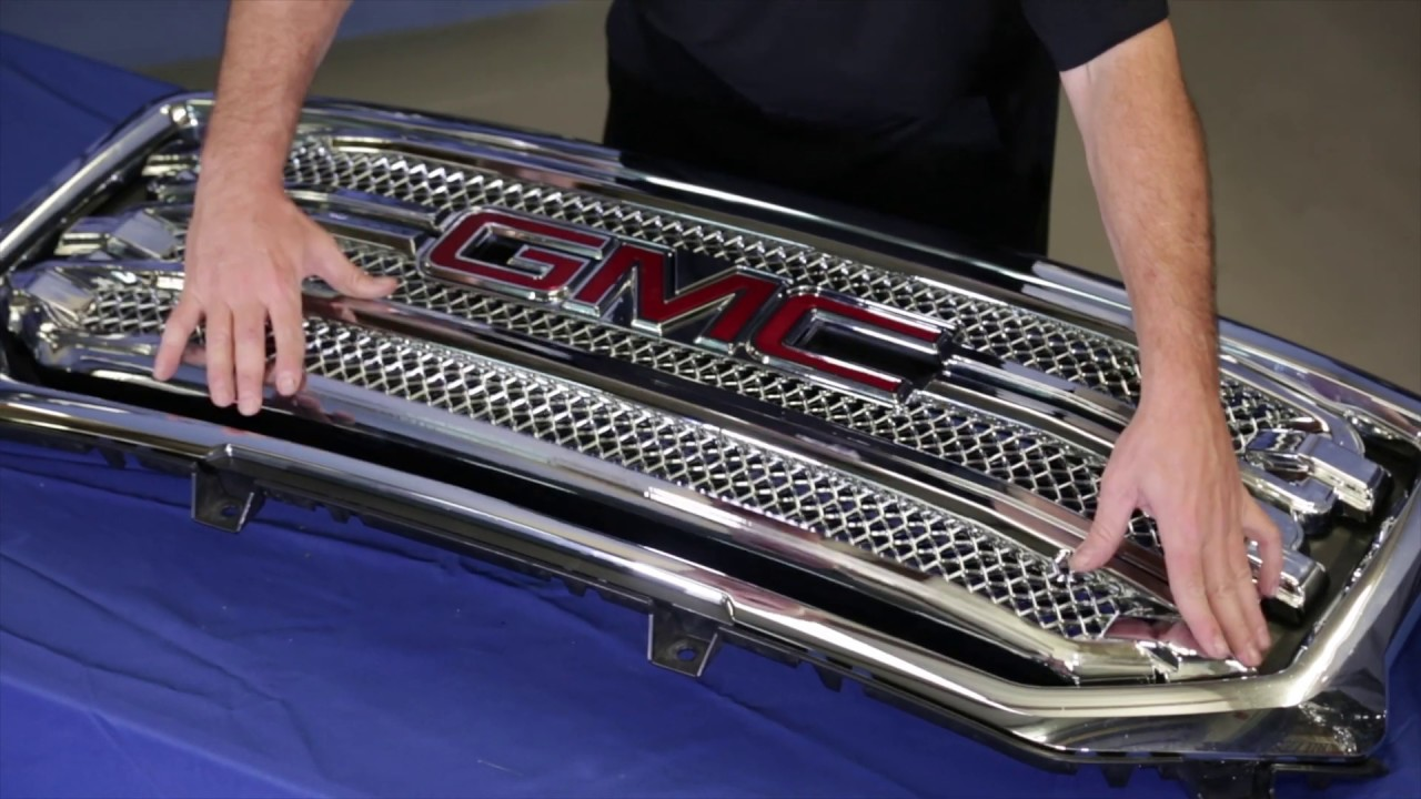 Installation Gi446 Cci Grille Overlay For The Gmc Sierra Youtube