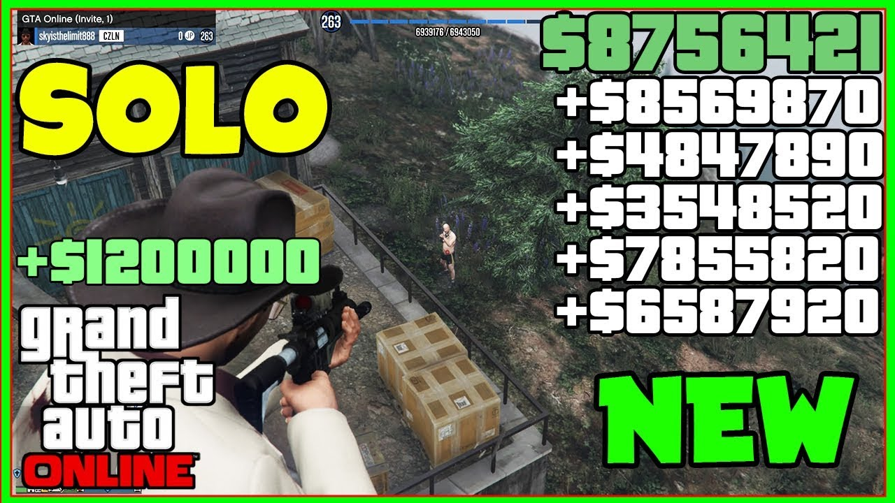 FRESH NEW, Gta 5 Online SOLO Money Glitch Everyone ASKED FOR... (Unlimited Money) *FASTEST*