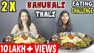 2 X BAHUBALI THALI CHALLENGE | SUPERWOMAN SERIES FOOD COMPETITION | Food Challenge India (Ep-158)