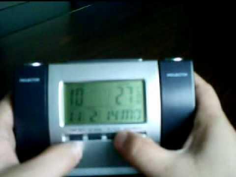 Projection Digital Desk Alarm Clock