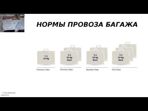 Багаж и ручная кладь. Нормы провоза багажа. 1