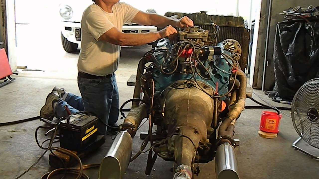 Dodge 360 Engine W Torqueflite 727 Running On Stand Youtube