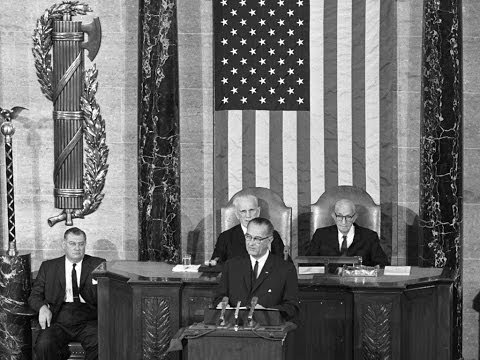 President Johnson's 1964 State of the Union address, 1/8/64.