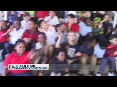 Stono Park Elementary School visits Rob Fowler at News2 for Weather 101