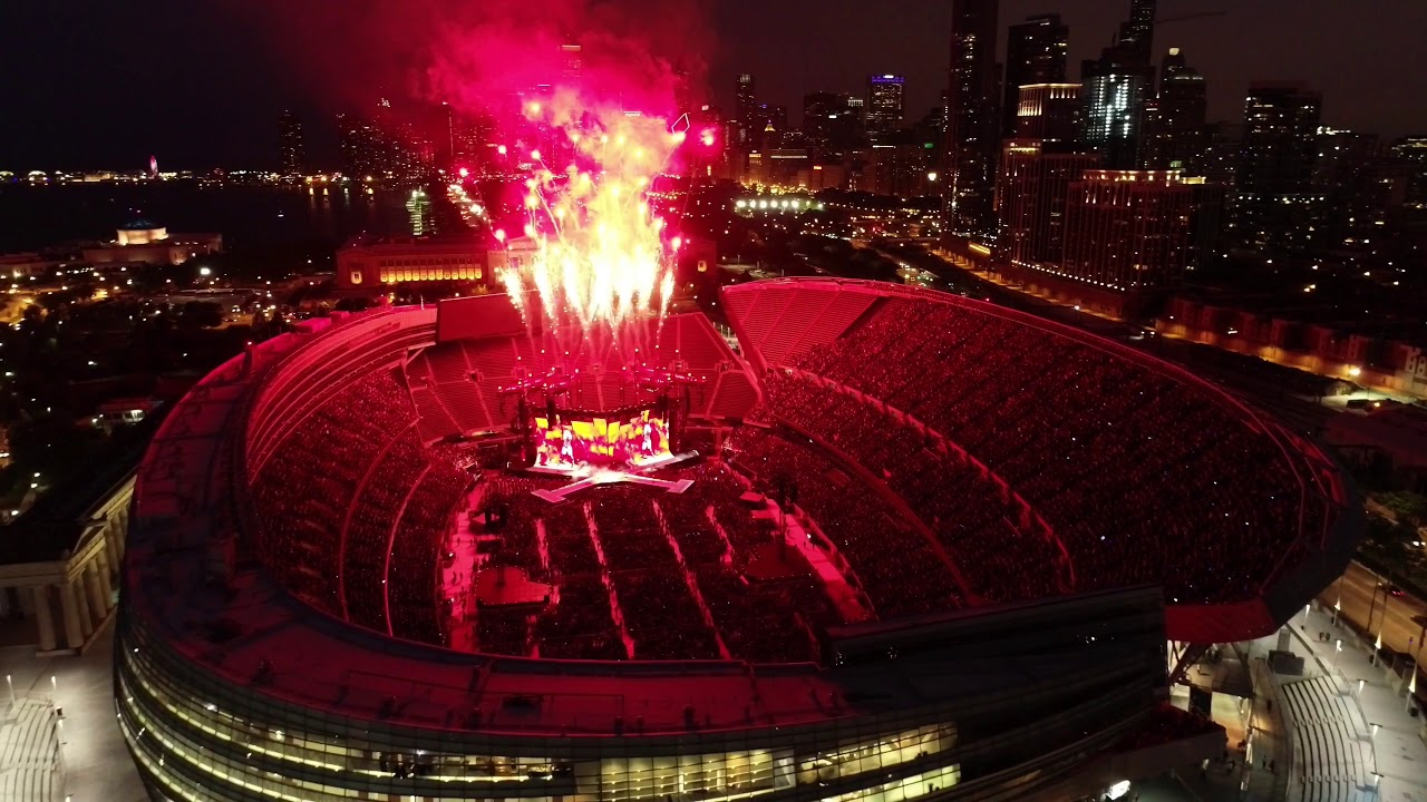 Taylor Swift Concert Drone Footage At Soldier Field In Chicago Youtube