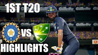India vs Australia 1ST T20 Match 2020 - Cricket 19 Gameplay 1080P 60FPS