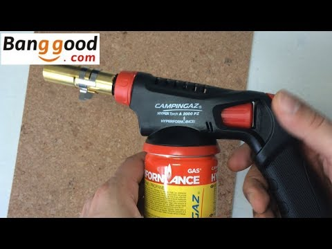 CAMPINGAZ Hypertorch A2000 PZ - 1930°C - Butane Propane Blow Torch Demonstration