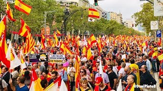 Manifestacion 12 de Octubre Barcelona 2018