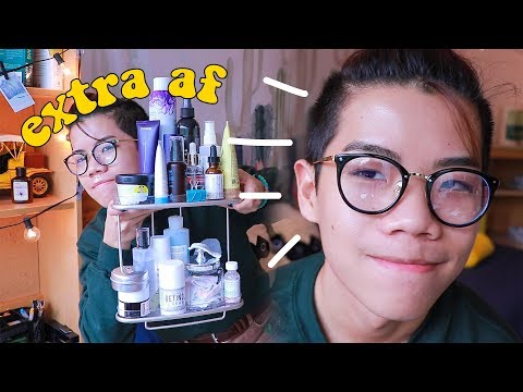 my extra af skincare routine because I don't have the clear skin gene - 동영상