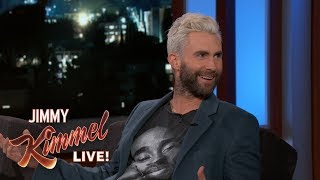 adam levine almost st himself while his wife was in labor