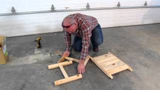 Mountain Sky Furniture Foot Stool/table Assembly