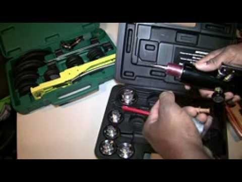 Refco pipe bender & Mastercool hydraulic swedge sets