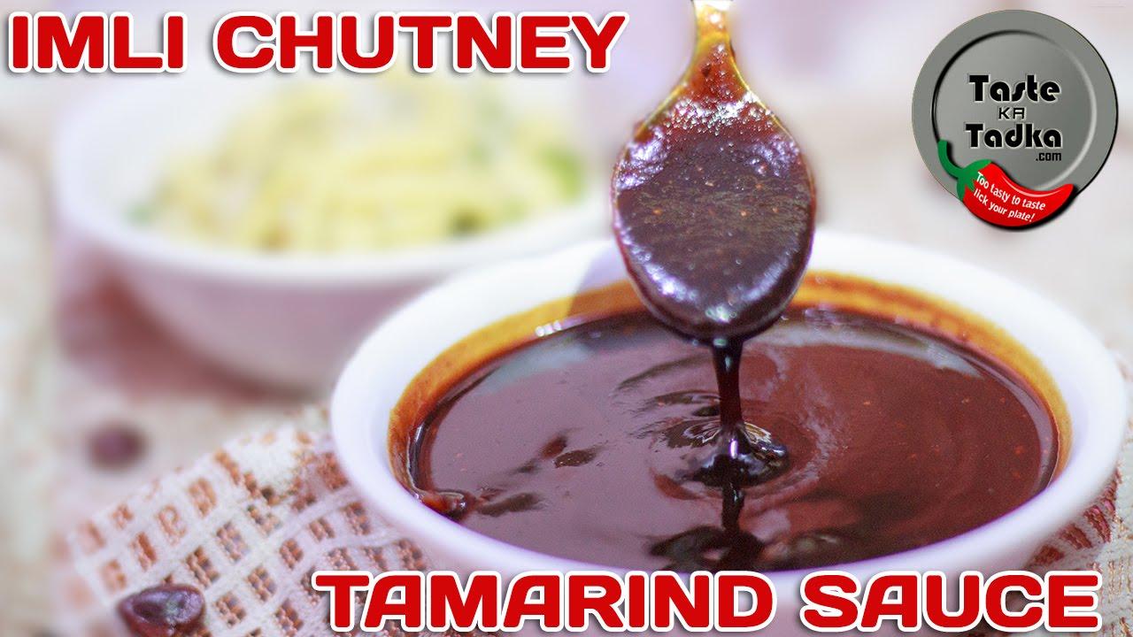 Imli Ki Chutney Recipe Tamarind Sweet Sauce Red Sweet Chutney Recipe English Subtitles Youtube