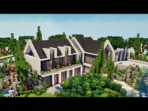 minecraft visite maison moderne par pierresautron youtube. Black Bedroom Furniture Sets. Home Design Ideas