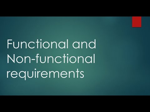 Functional And Non-functional Requirements With Examples