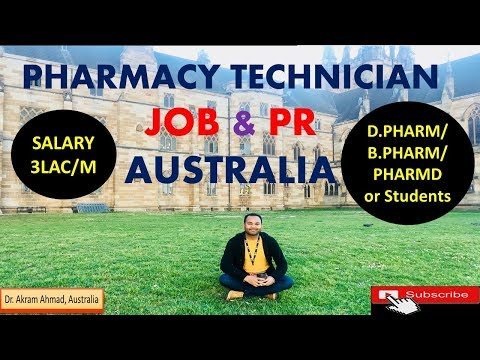 How To Work As A Pharmacy Technician In Australia And PR | Job For DPharm In Australia