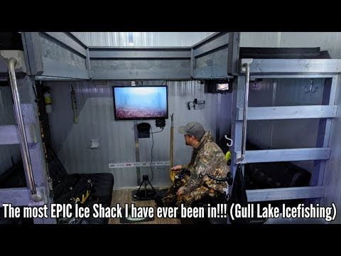 The Most EPIC Ice Shack I Have Been In!!! (Gull Lake Icefishing)
